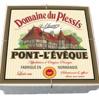 Pont l'Evêque Domaine du Plessis 400g AOP, lait cru, colis de 12 pièces
