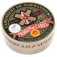 Camembert Moulin de Carel AOP, Lait cru, colis de 12 pièces