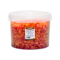 Papaye cube rouge déshydratée et sucrée x 5kg