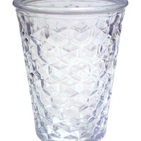 Vase Verre Relief H 13 Cm D 10 Cm