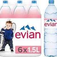 Evian X 6 X  1 Litre  FRANCE   cat.1