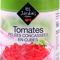 Tomate Pelee concassee 4/4 Boite FRANCE   cat.1