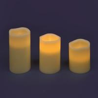 Lot De Trois Bougies Avec Une Lumière Led Intégrée
