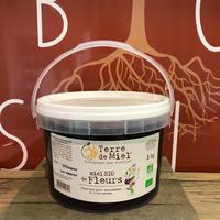 Miel De Fleurs Vrac Bio, colis de 5kg
