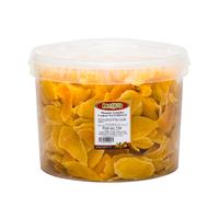 Mangue lamelles déshydraté et sucré - couleur naturelle x5kg