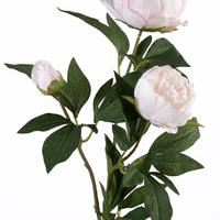 Pivoine Artificielle Rose 3 Boutons 76 Cm