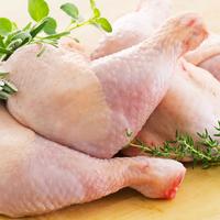 Cuisse  poulet 100 jours,16 pièces colis de 4kg