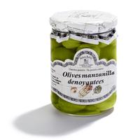 Olives Manzanilla dénoyautées 420gr, colis de 12 pièces