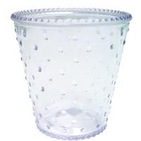 Vase Verre Picots H 12,5 Cm D 12 Cm