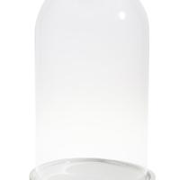 Globe Sur Socle Bois Blanc H 39 Cm  D 20,5 Cm