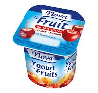 Yaourt Lait Entier 8% Fruits Nova Paquet X 4 Pieces