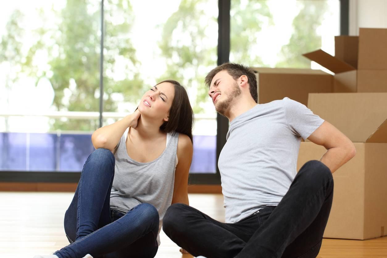 déménagement, éviter le lumbago