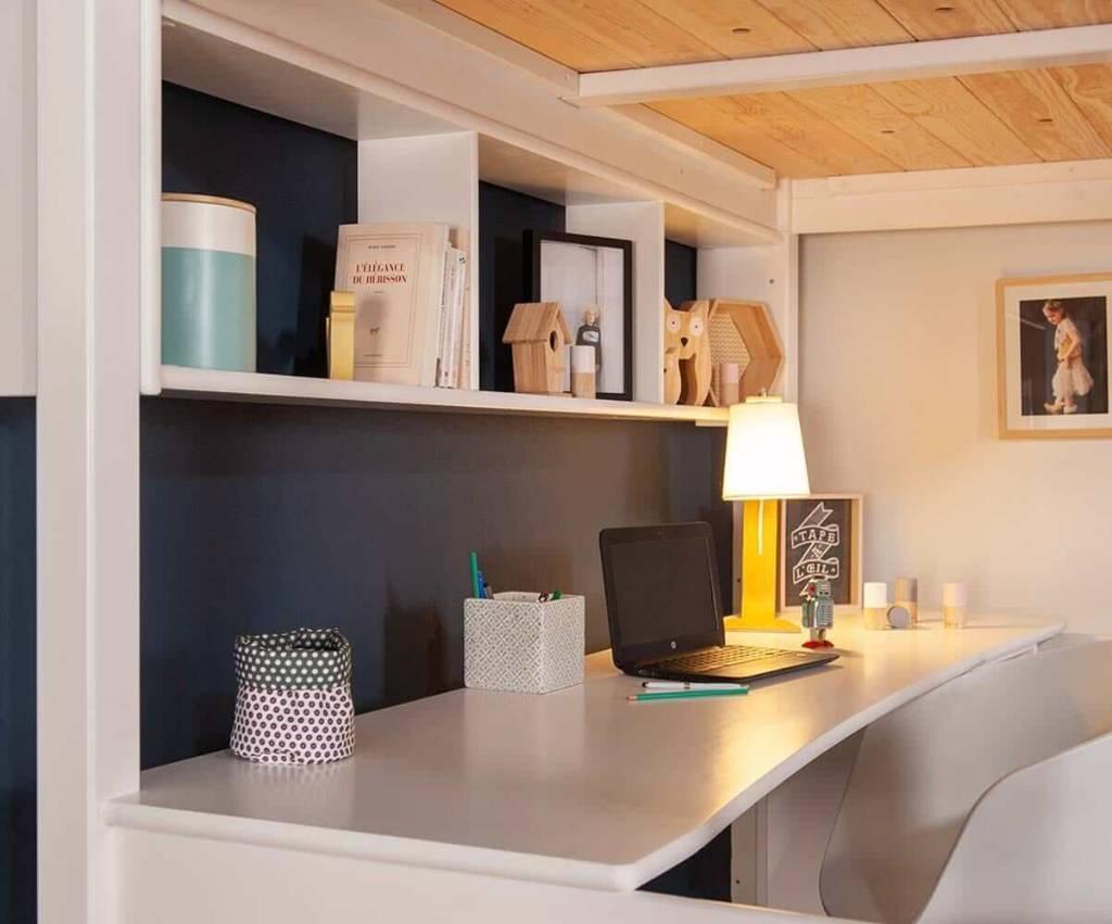 lit mezzanine aménagement intérieur gain espace chambre ado