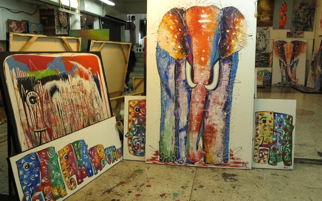 Intégrez des tableaux d'éléphant à votre décoration intérieure