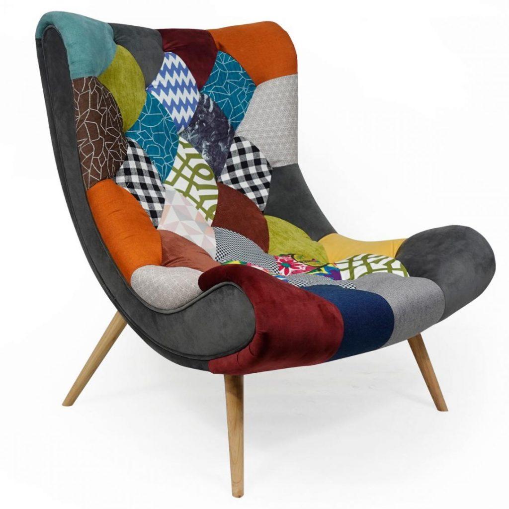 fauteuil scandinave en couleur