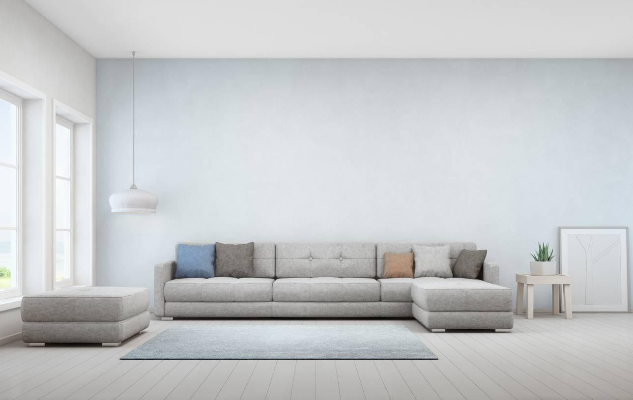 décoration canapé d'angle tendance