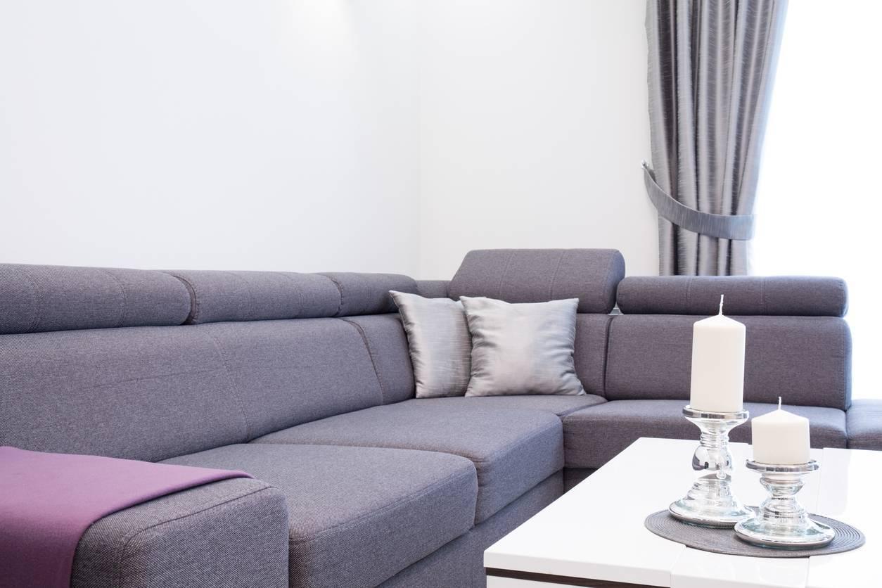 canapé d'angle décoration tendance