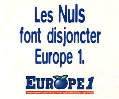 Les Nuls sur Europoe 1 (Crédits : <a target ='_blank' href='http://letransistor.unblog.fr/2011/06/26/26-juin-1995-le-point-a-chaud-sur-lactualite-des-nuls-dans-le-zouzouk/'>Le transistor</a>)