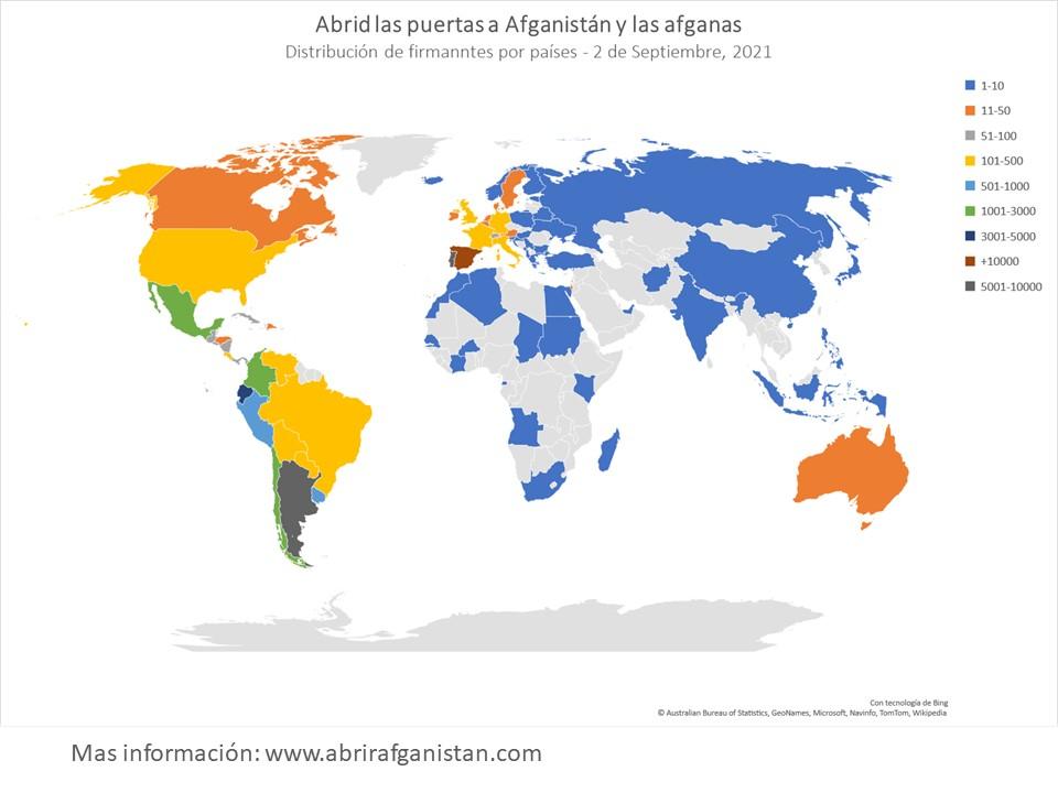 Mapa de firmantes
