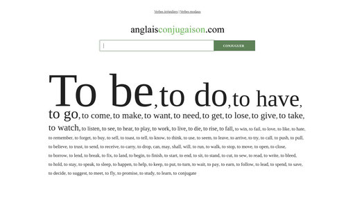 La Conjugaison Des Verbes Anglais Irreguliers Et Reguliers Anglaisconjugaison Com