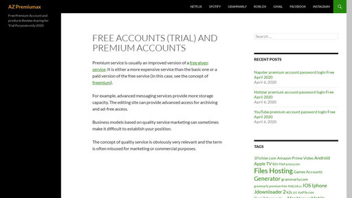 Azpremiumax Free Premium Accounts And Passwords For Products Review And Trial Purposes Sharing Only 2020