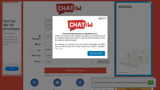 free chat room without registration in usa