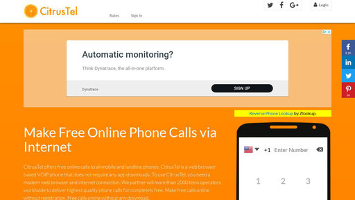 free call to mobile from internet without registration