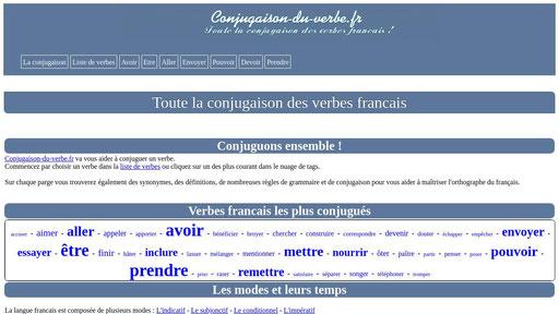 La Conjugaison Des Verbes Francais