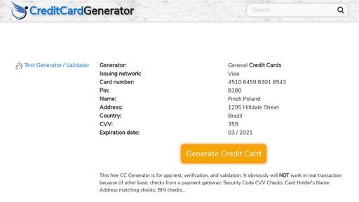 Bestccgen Com Credit Card Generator Valid Real Free Cc