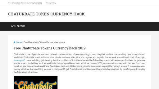Token currency hack chaturbate chaturbate Token