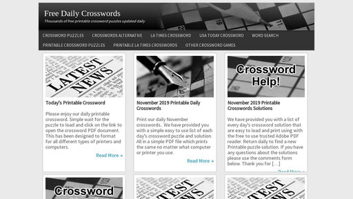 It is a graphic of Printable Usa Today Crossword Puzzles inside nyt crossword