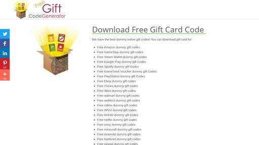 Freegiftcodegenerator Com Generate Free Gift Card For