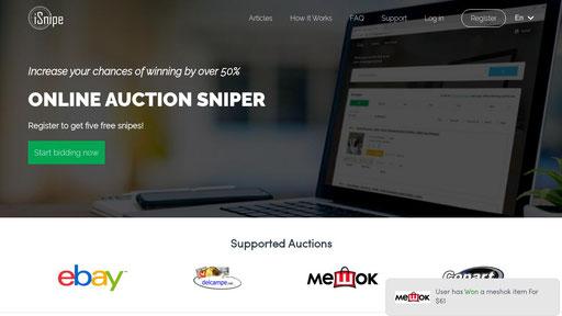 Isnipe Io Auction Sniper For Ebay Delcampe Copart