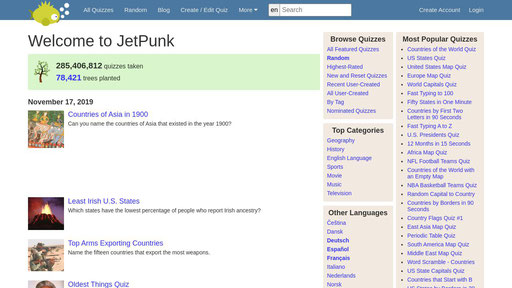 Jetpunk World S Best Quizzes Test your knowledge on this just for fun quiz and compare your score to others. xranks