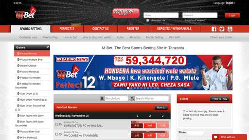 www sports betting co tz