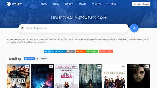 MyFlixer - Watch movies and Series online free in Full HD