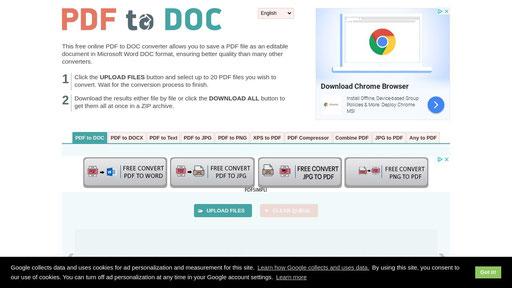 Pdf To Doc Convert Pdf To Word Online