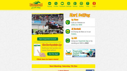 supertote mauritius football betting