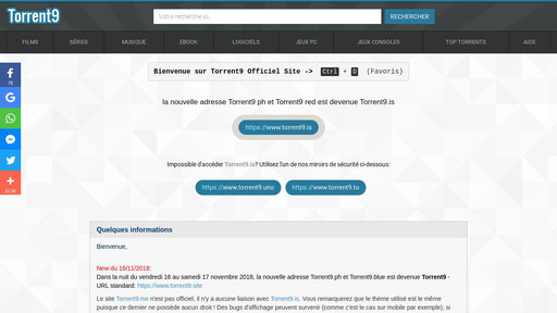 Torrent9 Site Telecharger Avec Torrent9 Officiel Site